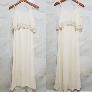 Flying Tomato Cream Boho Maxi Dress